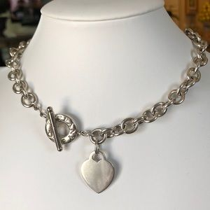 Authentic Tiffany Heart Toggle Necklace